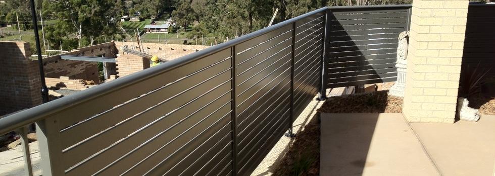 Kwikfynd Aluminium railings 177